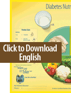 Nutritional Placemat English Download